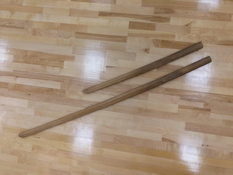 二天一流剣術の木剣