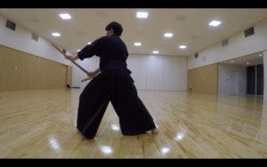 二天一流剣術の型「張付」3
