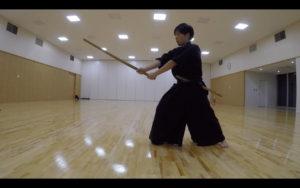 二天一流剣術の型「合先打留」1