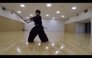 二天一流剣術の型「躱打」3