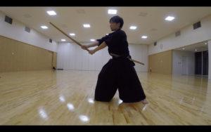 二天一流剣術の型「受流・左」2
